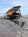 Riegue el rectángulo para extraer el oro aluvial, costa oeste NZ Imagen de archivo libre de regalías