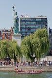 Riegue jousting, la justa parisiense, muelle del Seine, Fotografía de archivo
