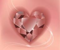 Riegue la celebración, declaración del amor, piedra en una forma del corazón Foto de archivo
