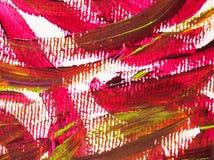 Riegue la pintura de acrílico en la textura de papel del extracto del fondo imagen de archivo libre de regalías