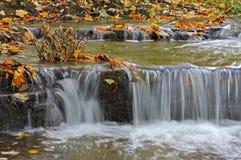 Riegue las cascadas en un río de la montaña Imagen de archivo libre de regalías