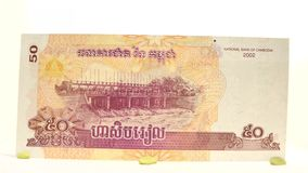 50 Riel of Cambodia stock video footage