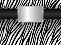 Riem op de achtergrond van een zebra royalty-vrije illustratie