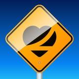 Riem op verkeersteken stock illustratie