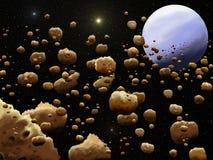 Riem van asteroïden royalty-vrije illustratie