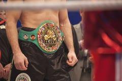 Riem WBC op Vitali Klitschko Stock Foto's