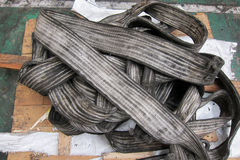 Riemen des gewebten Materials stockbild