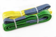 Riemen des Textilgewebten materials stockbild