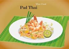 Riempia l'alimento in padella tailandese della Tailandia del locale della tagliatella di riso Fotografia Stock