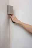 Riempiendo i giunti, allinea la parete, allineamento si inclina Fotografia Stock Libera da Diritti