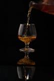 Riempimento del vetro di brandy Immagine Stock Libera da Diritti