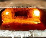 Riempire di alluminio della fornace Immagini Stock