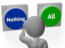 Rien que tous les boutons montrent complètement ou Nill Images libres de droits