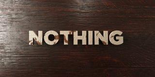 Rien - titre en bois sale sur l'érable - 3D n'a rendu l'image courante gratuite de redevance illustration stock