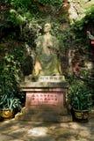 Riese-Buddha-Gründer Porträtstein Leshans China-Leshan Stockfotografie