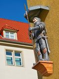 Riese Giant figure in Nordhausen Harz Germany. Riese and riesenhaus Giant house figure in Nordhausen Harz of Germany royalty free stock images