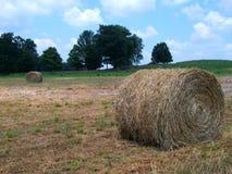 Riese Hay Rolls auf ländlichem Bauernhof Stockfotos