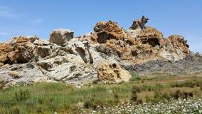 Riese schaukelt die natürlichen Felsen, die erstaunliche Formen machen Stockbild