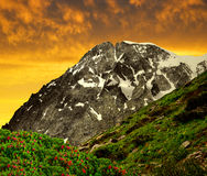 Riesenfernergruppe mountain range Royalty Free Stock Photography