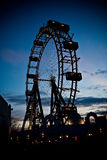 Riesenrad. In Vienna Austria by night Royalty Free Stock Images