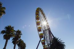 Riesenrad auf Geelongs-Ufergegendpromenade Stockbild