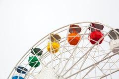Riesenrad auf Weiß Stockfoto