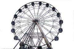 Riesenrad auf weißem Hintergrund lizenzfreie stockfotos