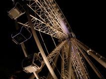 Riesenrad Belfast-Bis zum Nacht Stockfotos