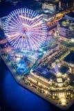 Riesenrad Cosmo-Uhr 21 nachts Stockfoto