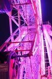Riesenrad-Dekorationslicht an der Stadt Lizenzfreies Stockbild