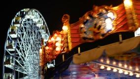 Riesenrad-Dunkelheitsnacht stock video footage