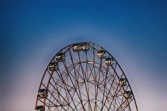 Riesenrad, großes Rad, Metallbau stockfotografie