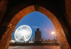 Riesenrad herein das Gdansk Lizenzfreies Stockbild