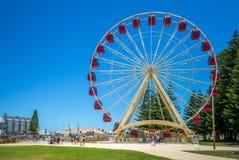 Riesenrad herein fremantle, Perth, Australien lizenzfreie stockfotografie