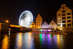 Riesenrad herein Gdansk, Polen Lizenzfreies Stockbild