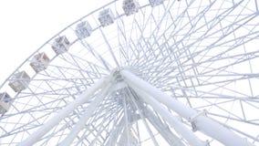 Riesenrad herein Kiew im nebeligen Wetter stock video