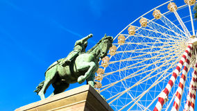 Riesenrad herein Orleans Frankreich Lizenzfreies Stockfoto