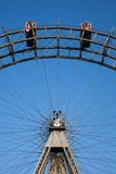 Riesenrad herein Wien, Prater-Park Stockfotos