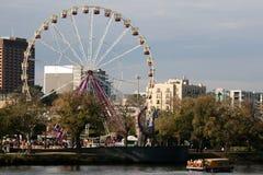 Riesenrad innen Melbourne, Australien Lizenzfreies Stockfoto