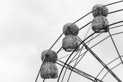 Riesenrad innen Schwarzweiss Stockfotografie