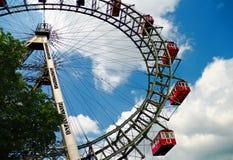 Riesenrad innen Wien Stockfotos