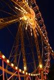 Riesenrad nachts Stockbild