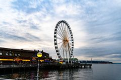 Riesenrad Seattle- lizenzfreie stockfotografie