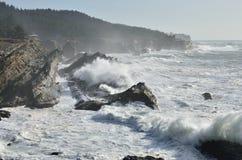 Riesenwellen am Ufer-Morgen-Nationalpark, Oregon Stockfotografie