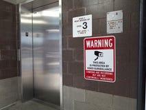 Riesgo aislado del elevador Foto de archivo libre de regalías