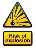 Riesgo de explosión stock de ilustración