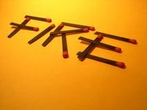 Riesgo de fuego con los emparejamientos Imagen de archivo libre de regalías