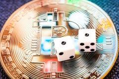 Riesgo de inversión Crypto del bitcoin de las monedas especialmente Fotografía de archivo libre de regalías
