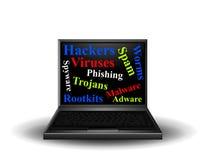 Riesgos para la seguridad de la red de ordenadores Imagen de archivo libre de regalías