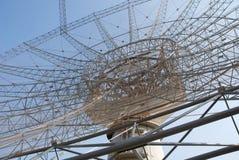 Riesig Messinstrument-bewegen Sie Radioteleskop, GMRT, Indien wellenartig. lizenzfreie stockbilder
